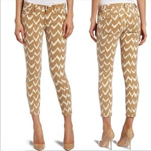 7 for all Mankind Cropped Skinny ikat chevron pant